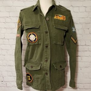 Willow & Clay Green Patchwork Field Jacket